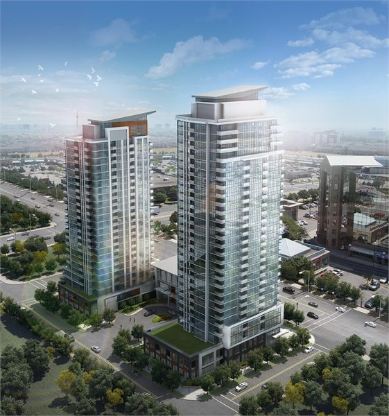 Crystal 2 Condos Aerial View Toronto, Canada