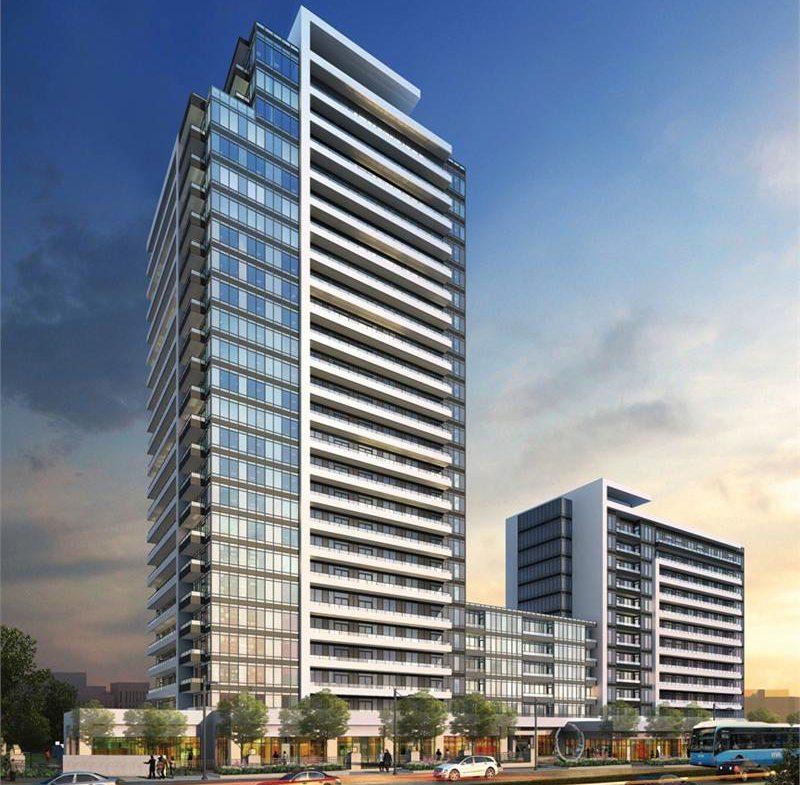 Rendering of Legacy Park Condos building exterior