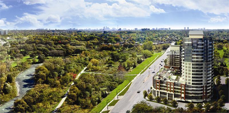 Perspective 2 Condos Aerial View Toronto, Canada