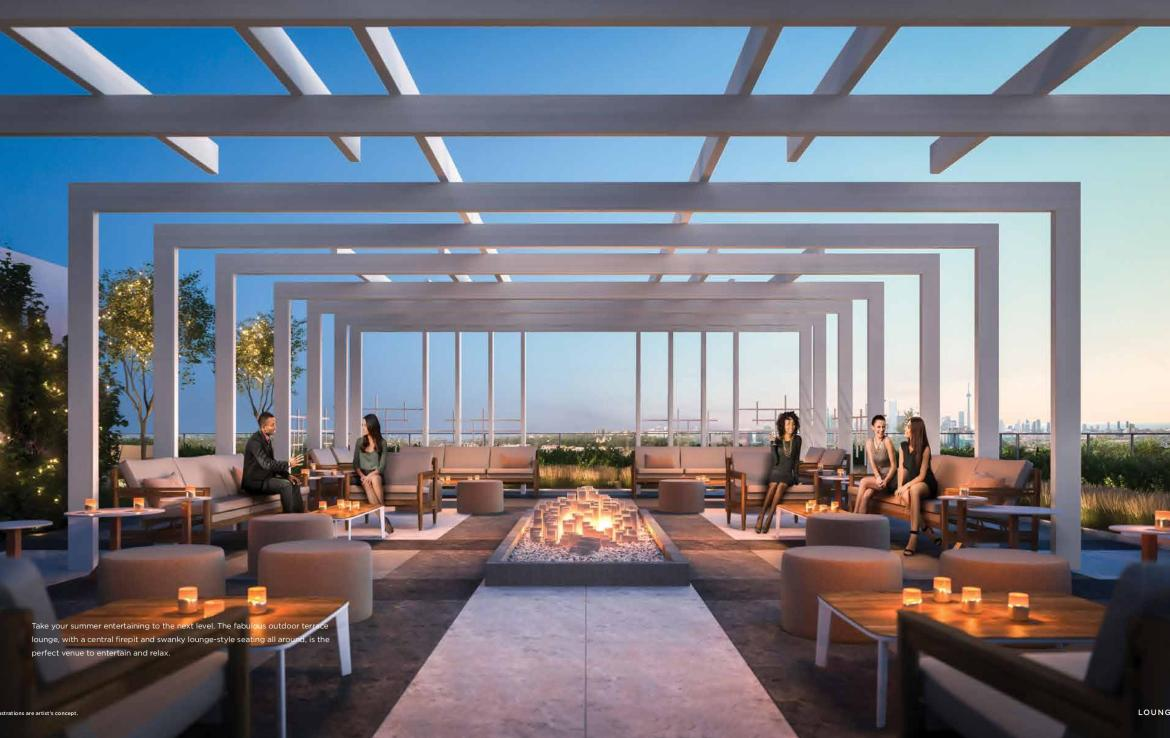 Rodeo Drive Condos Terrace Lounge Toronto, Canada