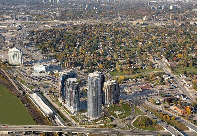 Parc Nuvo Condos Aerial View Toronto, Canada
