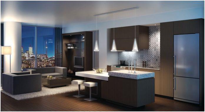 X2 Condos Living Area Toronto, Canada