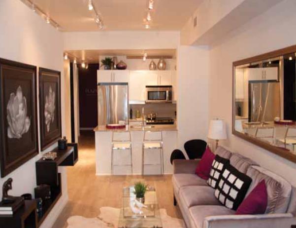 Ivory Condos Living Area Toronto, Canada