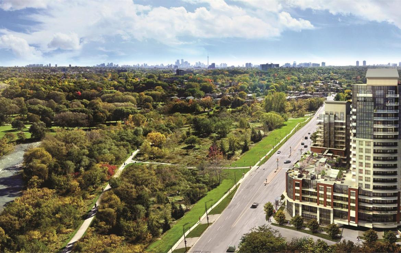 Perspective 2 Condos Building View Toronto, Canada