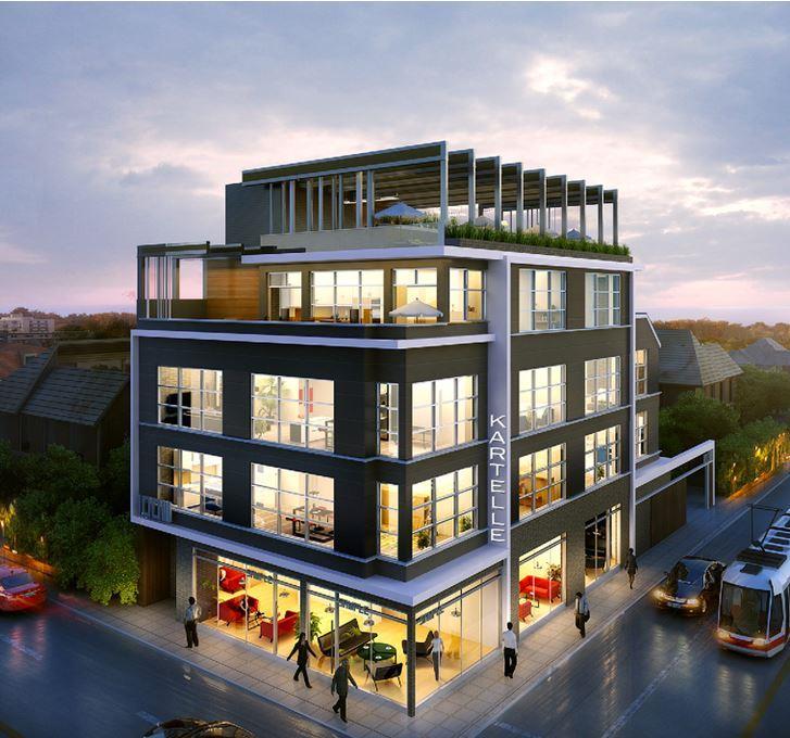 Lofts on Queen Condos Street View Toronto, Canada