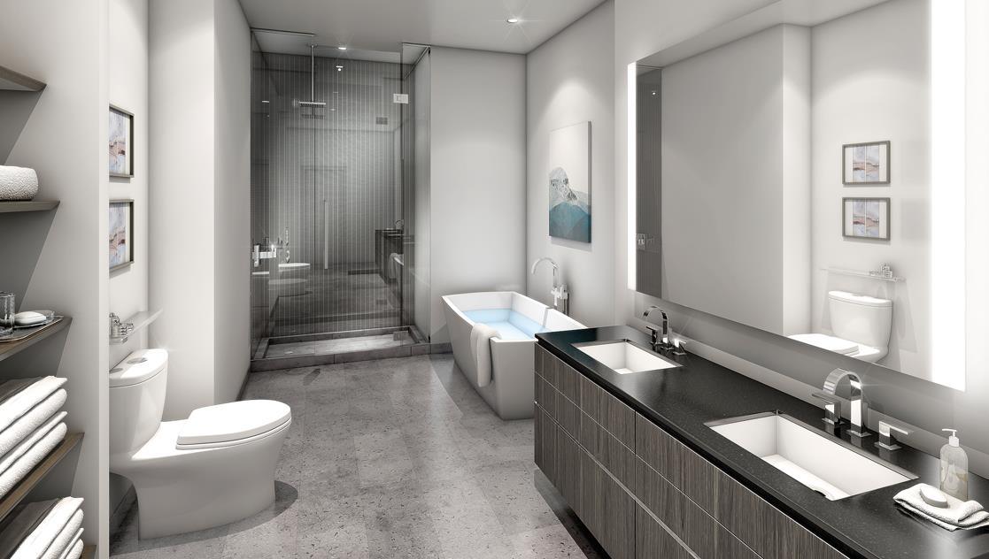 YC Condos Bathroom Toronto, Canada