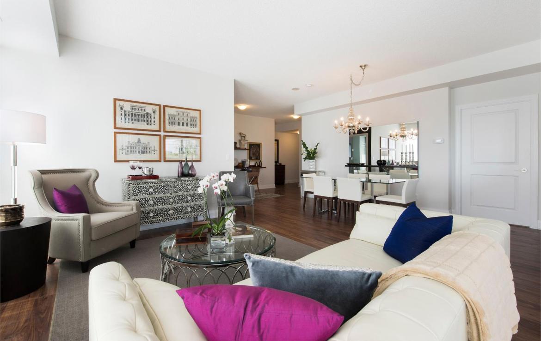 Perspective 2 Condos Living Room Toronto, Canada