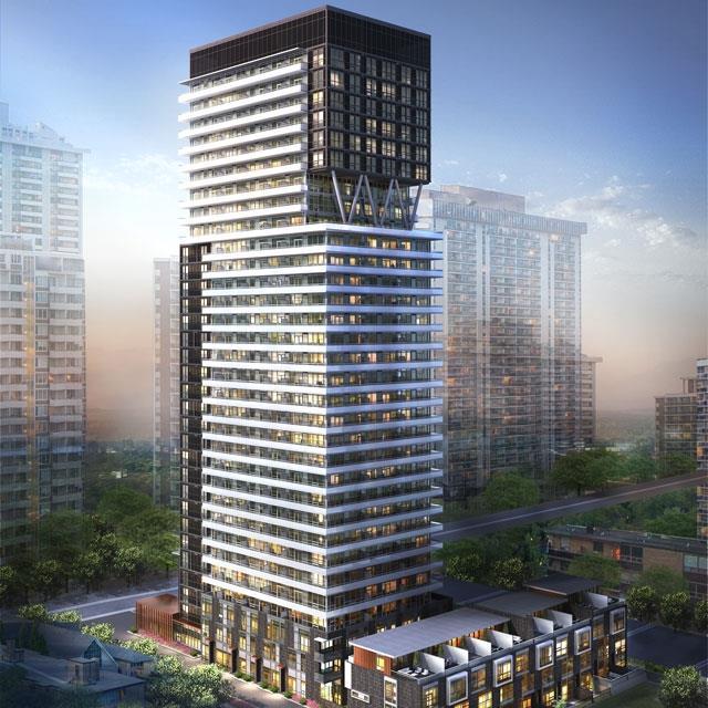 101 Erskine Condos Building View Toronto, Canada
