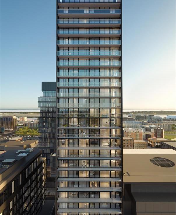 Bauhaus Condos Building View Toronto, Canada
