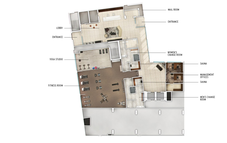 J. Davis House Condos Amenities Plan Toronto, Canada