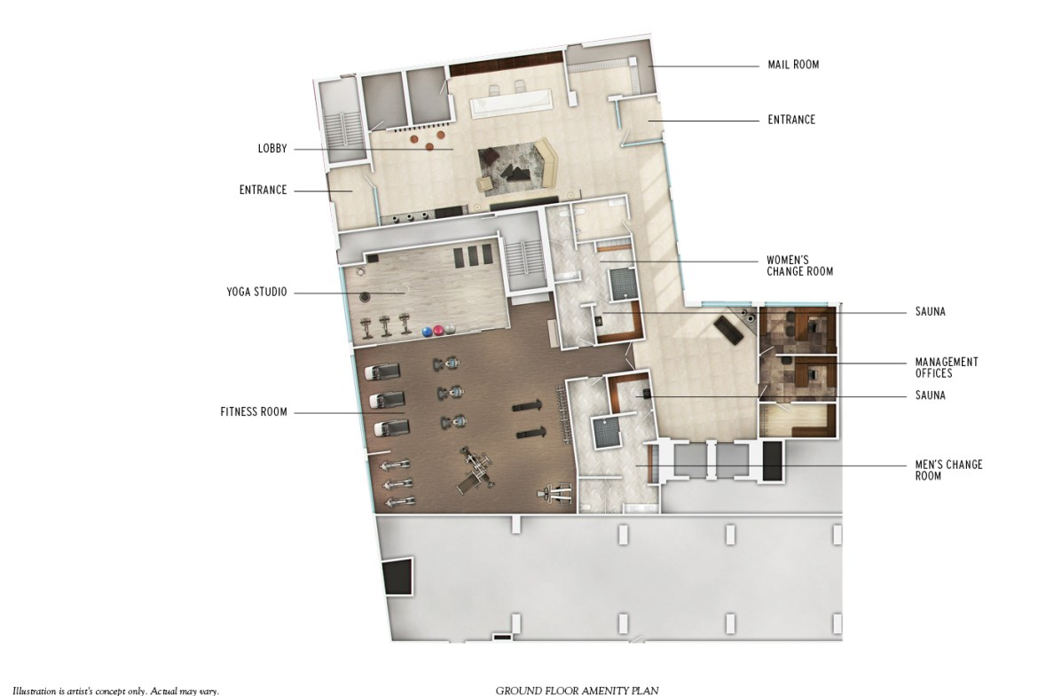 J. Davis House Condos Amenities Plan Toronto, Canada