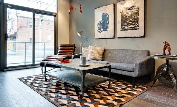 The Carlaw Condos Living Room Toronto, Canada