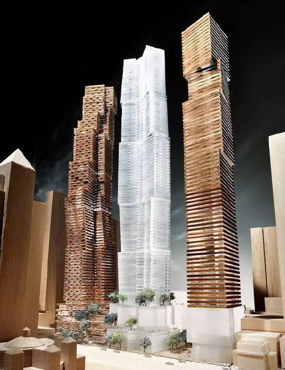 Mirvish Gehry Condos Building Model Toronto, Canada