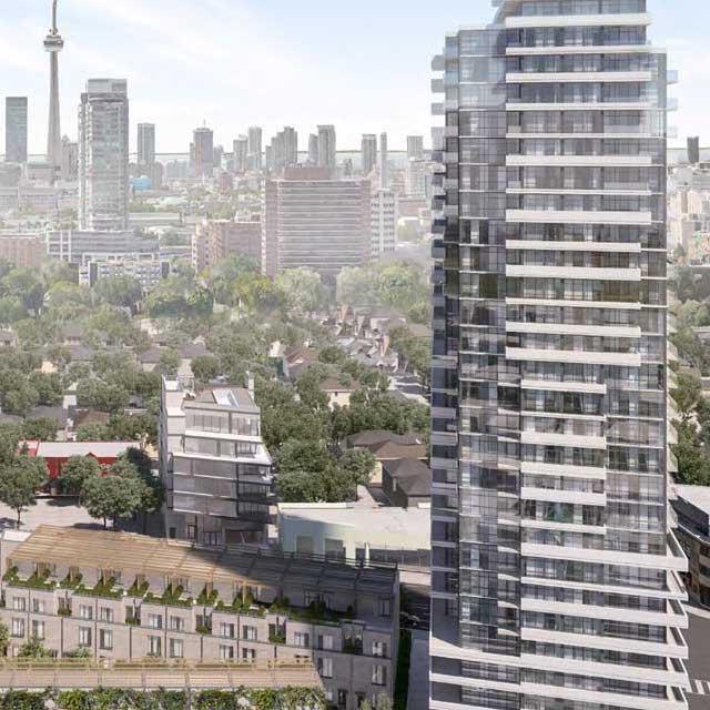 AYC Condos Building View Toronto, Canada