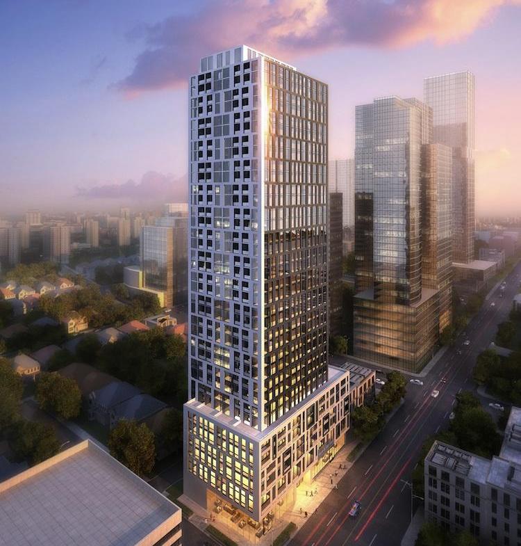 90 Eglinton Condos Building View Toronto, Canada