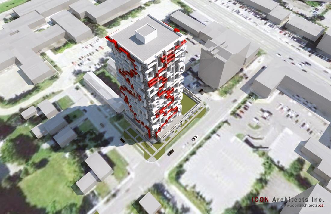 Maze Condos Aerial View Toronto, Canada