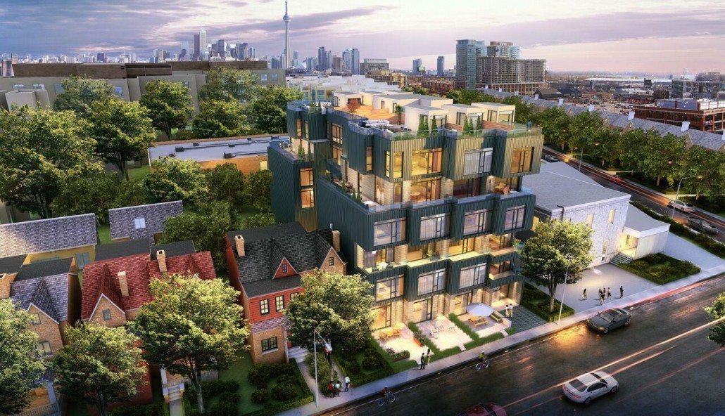 Cabin Condos Aerial View Toronto, Canada