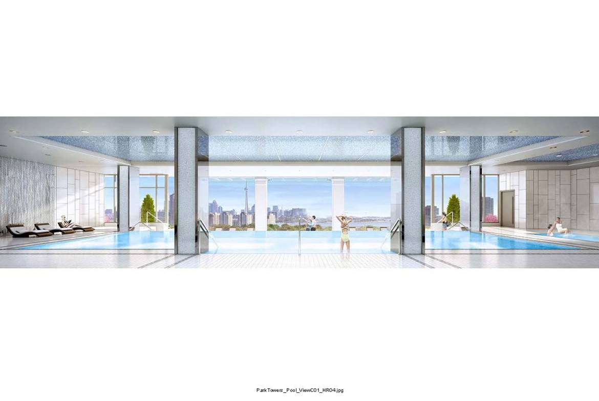 Park Towers at IQ Condos Swimming Pool Toronto, Canada