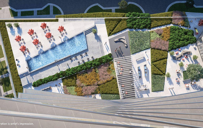 M City Condos Rooftop View Toronto, Canada