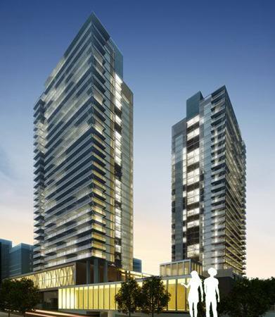 Discovery Condos Building View Toronto, Canada
