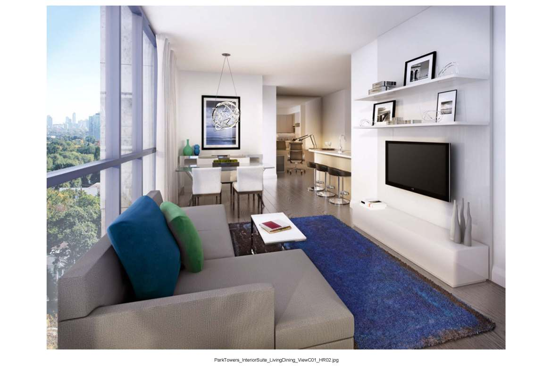 Park Towers at IQ Condos Living Room Toronto, Canada