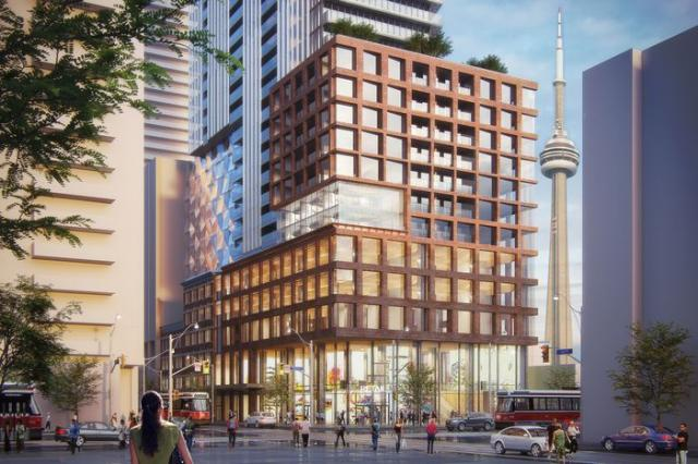Exterior Rendering of 401-415 King West Condos