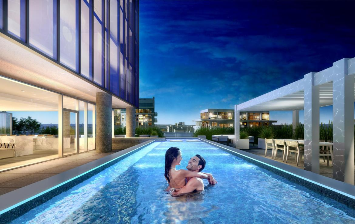 Rendering of Nautique Lakefront Residences swimming pool