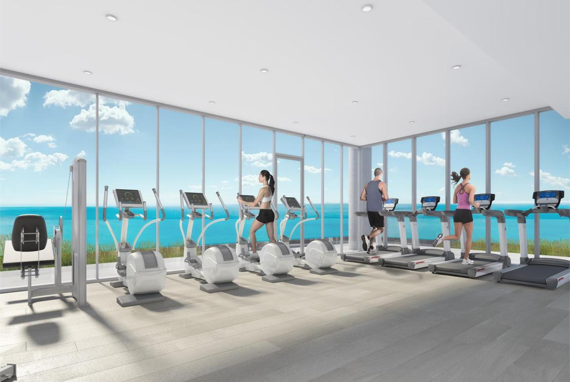 Rendering of Nautique Lakefront Residences fitness centre