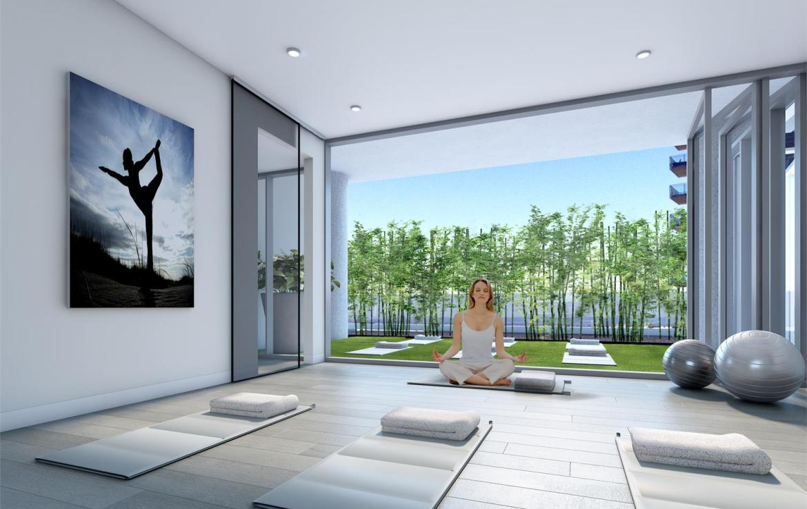 Rendering of Nautique Lakefront Residences yoga studio