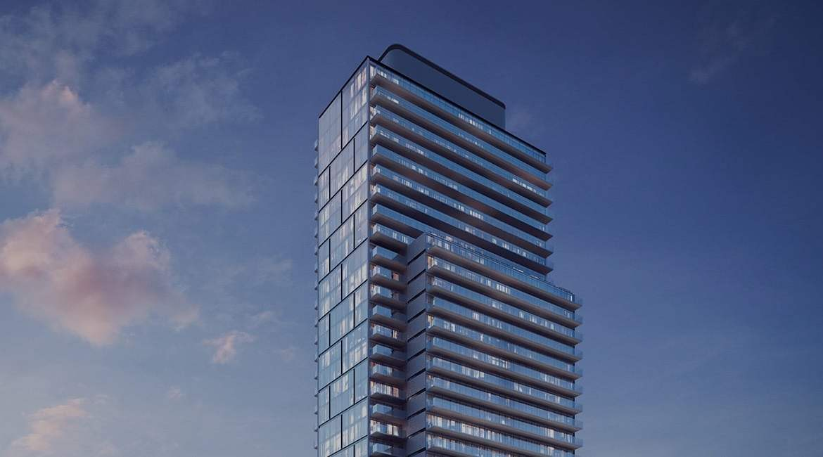 Rendering of The Gloucester on Yonge Condos exterior building top