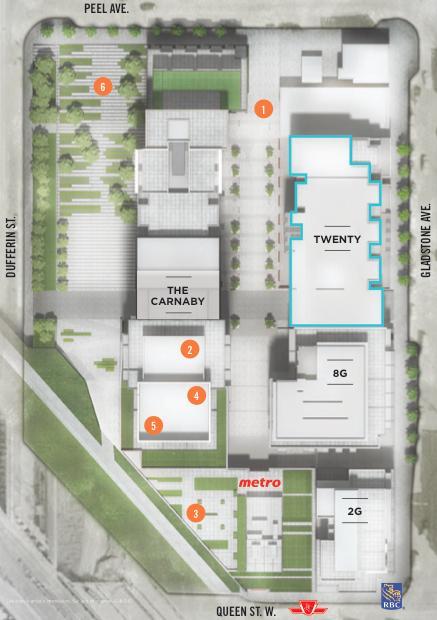 Twenty Condos Property Plan Toronto, Canada