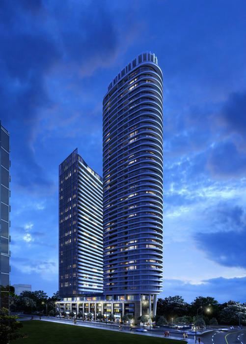 Via Bloor Condos Building View Toronto, Canada