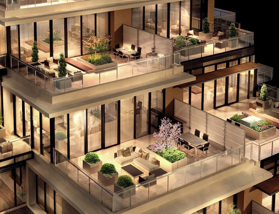 36 Hazelton Condos Terrace Lounge Toronto, Canada