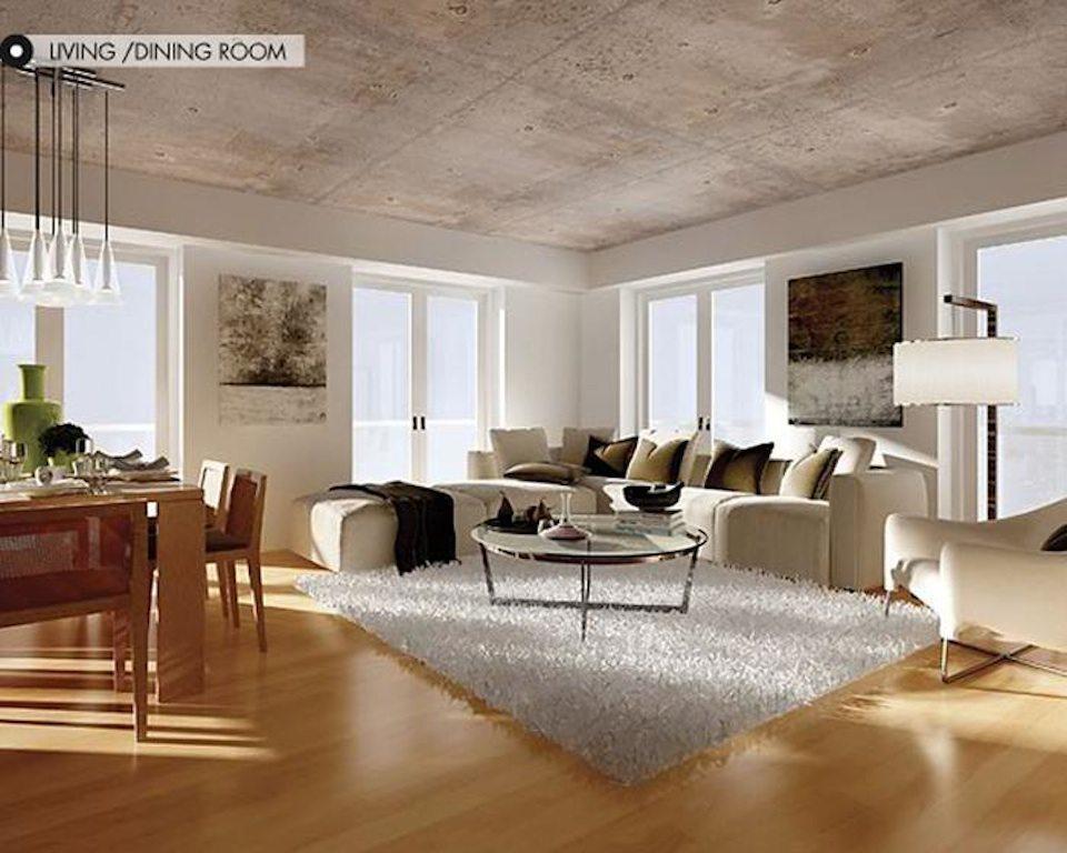 400 Wellington West Condos Living Area Toronto, Canada