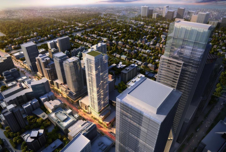 55 Eglinton Avenue East Condos Top View Toronto, Canada