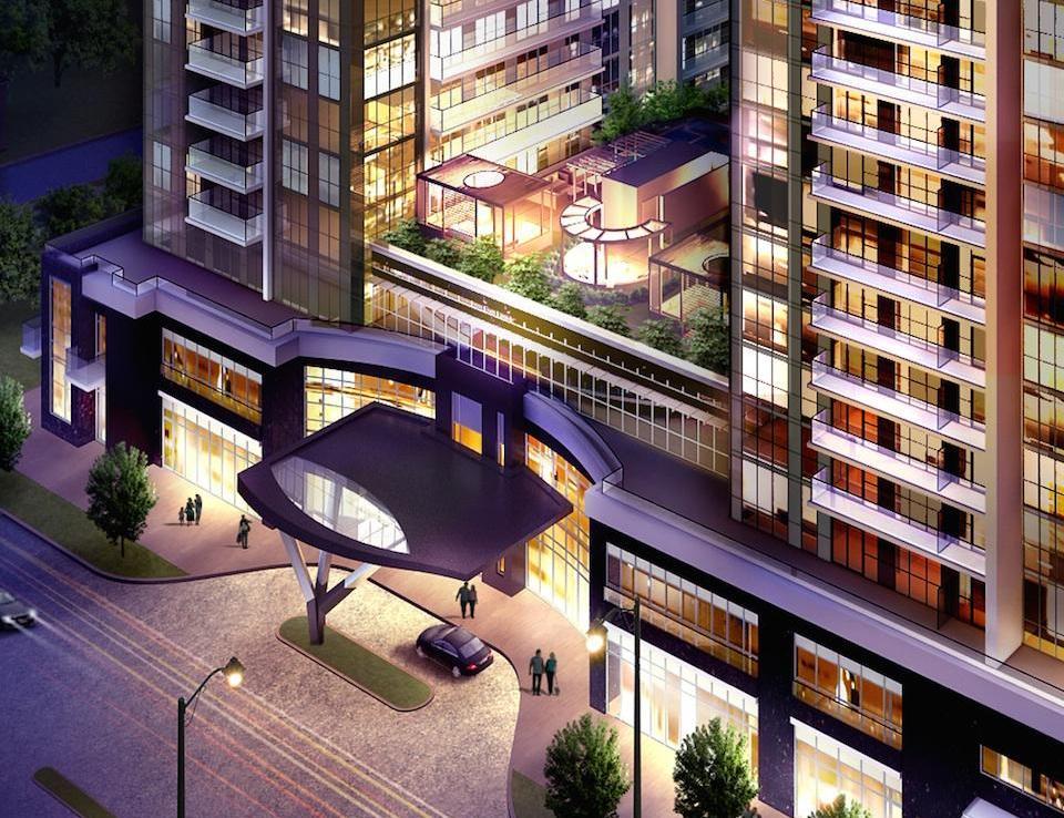 5959 Yonge Condos Aerial View Toronto, Canada
