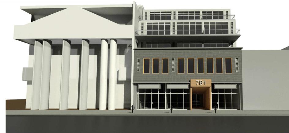 763 Queen Street East Condos Front View Toronto, Canada