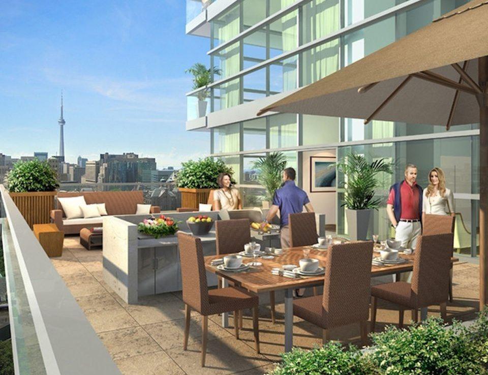 77 Charles West Condos Cafeteria Toronto, Canada