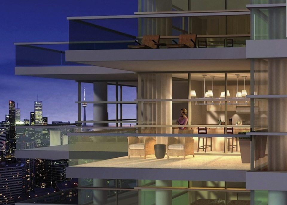 77 Charles West Condos Balcony Toronto, Canada