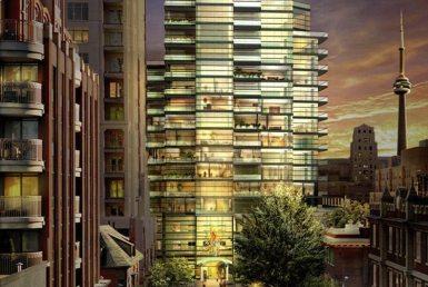 77 Charles West Condos Building View Toronto, Canada