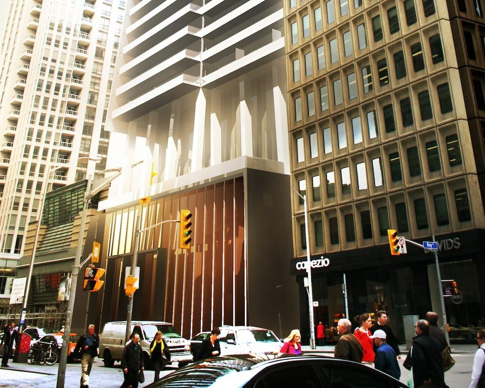 80 Bloor Street Condos Front View Toronto, Canada