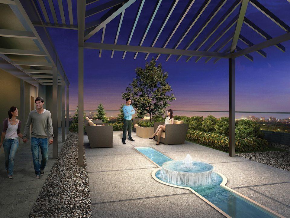 Cloud9 Condominiums Terrace Lounge Toronto, Canada