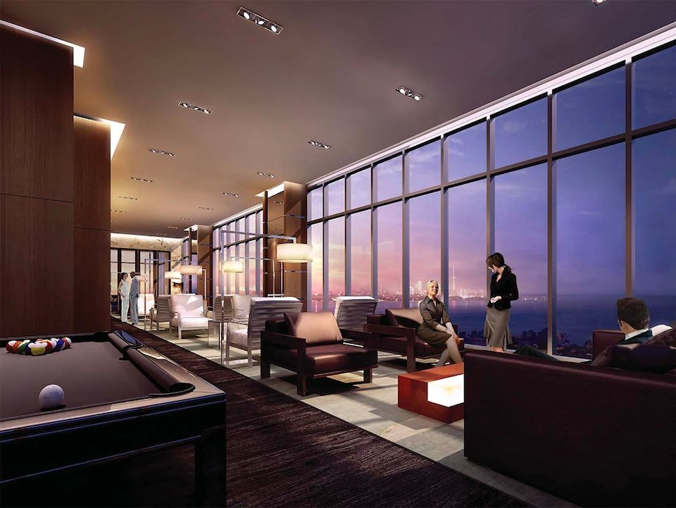 Eau du Soleil Condos Billiards Toronto, Canada