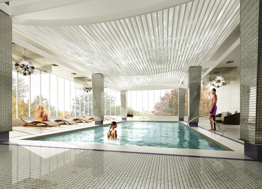 Gibson Square Condominiums Pool View Toronto, Canada