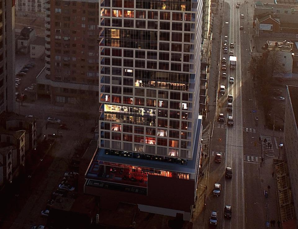 Grid Condos Aerial View Toronto, Canada