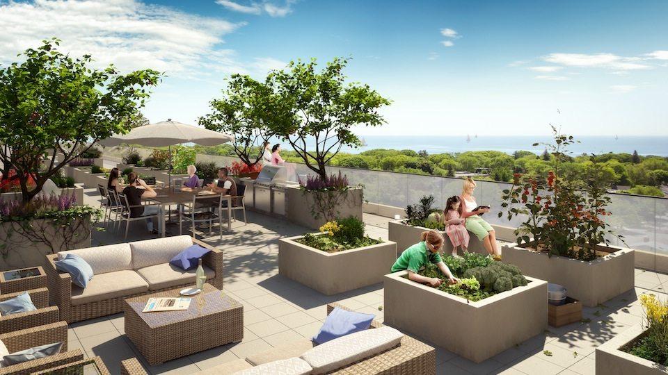 Kingston&Co Condos Terrace Lounge Toronto, Canada
