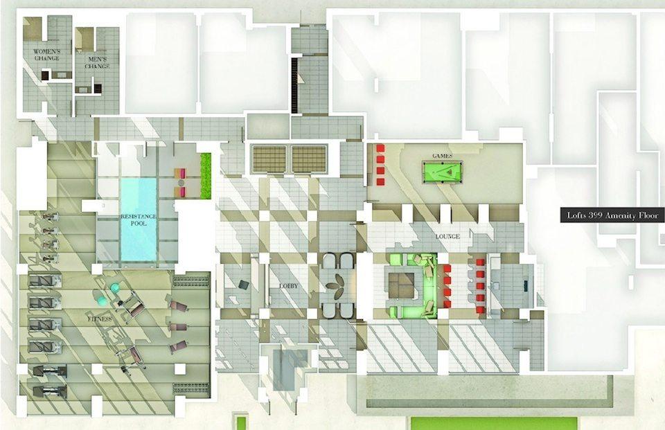 Lofts 399 Condos Property Plan Toronto, Canada