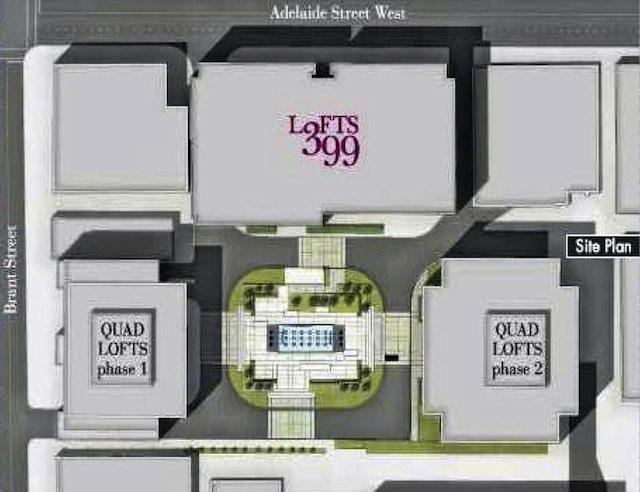 Lofts 399 Condos Amenities Plan Toronto, Canada
