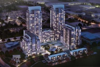 ME Living Condos Aerial View Toronto, Canada