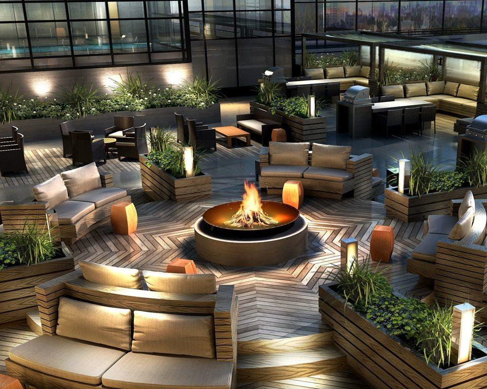 Madison Condos Terrace FirePlace Toronto, Canada